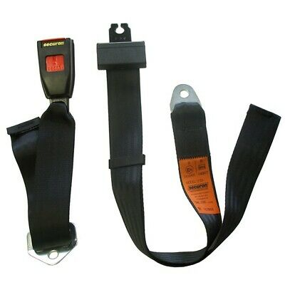 Seat Belt - Static Lap - Black SECURON 210C