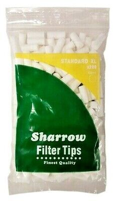 5 x BAGS STANDARD XL EXTRA LONG CIGARETTE FILTER TIPS 8mm   SHARROW = 400 Tips