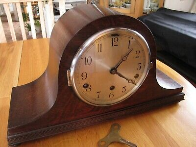 Westminster Chime Napoleon Hat Clock Working With Key As Found