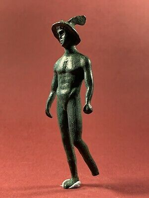 Ancient Roman Bronze Statuette Of Mercury God Of Financial Gain Circa 250-350Ad