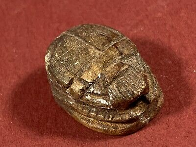 Stunning Item - Ancient Egyptian Scarab W/ Hieroglyphics Circa 940-660Bce