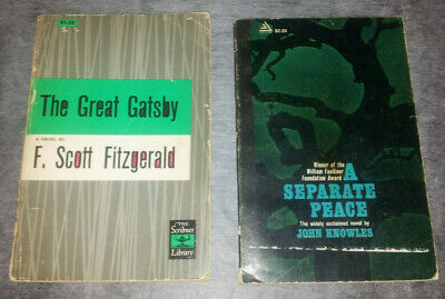 A Separate Peace-Knowles 1959; The Great Gatsby- Fitzgerald- 1953 Edition -2Pbks