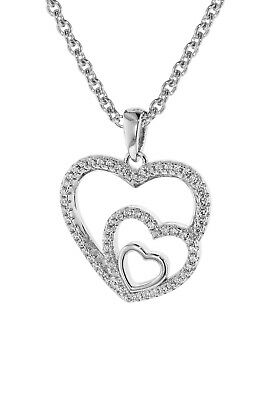 Trendor Jewellery Women's Necklace Silver 925 with Pendant Hearts in Heart 75261
