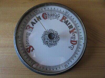 Barometer Dial With Brass Bezel & Glass