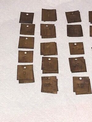 Vintage Brass Number Tags