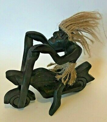 Wooden Abstract Figure Primitive People 23 cm Home Decoration Cool Gift Ashtray