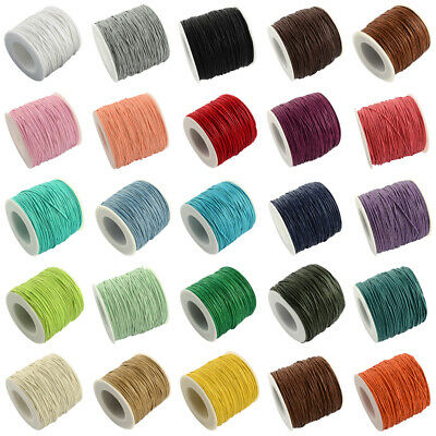 100yards/roll Waxed Cotton Thread Cords Thread Beading String Macrame Jewelry