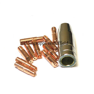 MB15 MIG Welder Torch Accessories Conical Gas Nozzles Contact Tips