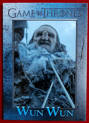 Game Of Thrones Season 6 Foil Base Card #92 Wun Wun