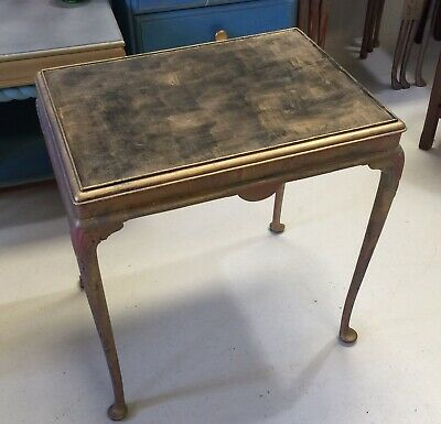Antique Occasional Table Painted Shabby Chic Style