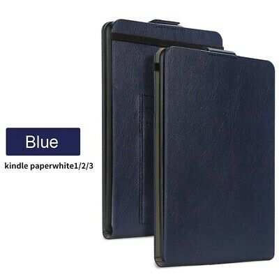 Genuine Leather Case Cover For Amazon Kindle Paperwhite 123 Kindle Voyage LK01