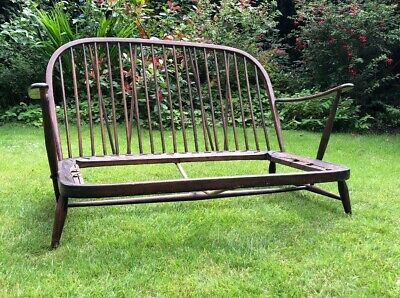 Vintage Ercol Windsor Style Two Seater Sofa Frame Only