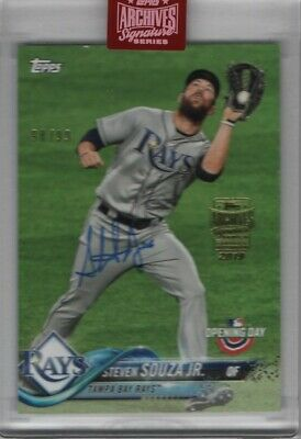 Steven Souza Jr 2019 Topps Archives Signature Series 2018 Opening Day Auto 98/99