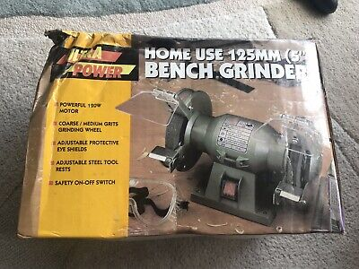 "Bnib Ultra Power Bench Grinder - 125mm (5"") 120w"