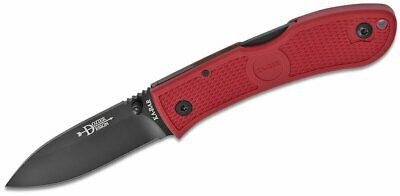 "KA-BAR Dozier Folding Hunter, Red, 3"" Blade, AUS 8A Stainless Steel #4062RD"
