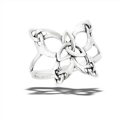 Sterling Silver Celtic Butterfly With Triquetras Ring