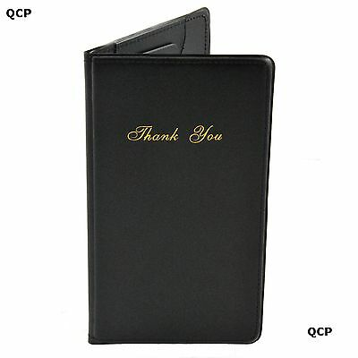 CLASSIC BILL PRESENTER - CASHIERS WALLET - BLACK - PACK OF 1, 6, 12 or 24