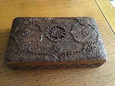 detailed carved wooden box