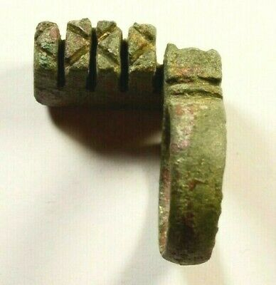 Rare Ancient Roman bronze key ring : 1st-3rd century AD