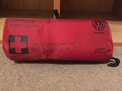 Genuine Volkswagen In Car First Aid Kit Sterile VW Golf Passat Polo Emergency