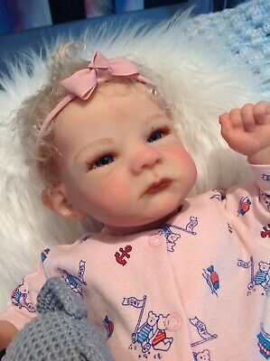 """Reborn SALLY Baby By Bonnie Brown Exquisite 20"""" Sold Out Rare 4lbs"""