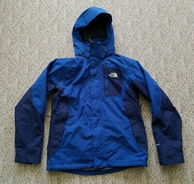 e4a7d0c94 TNF THE NORTH Face Men's HyVent Hooded Jacket Color Blue Size Small S Hike  Ski