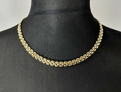 Lovely Vintage Panther chain Necklace signed REVLON Jewellery