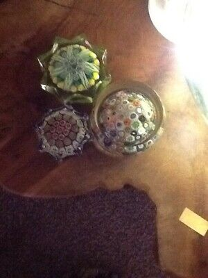 Three Star Shaped Paperweights