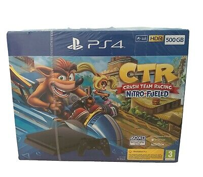 Sony PlayStation 4 Slim 500GB Bundle (Controller DualShock 4, Crash Nitro Fueled