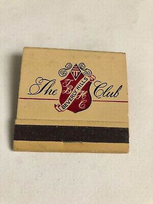 Vintage Full Matchbook The Beverly Hills Club Beverly Hills California