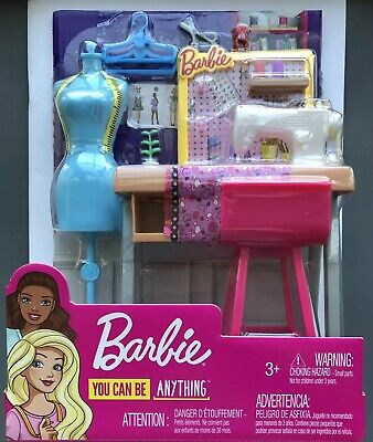 Barbie You Can Be Anything FASHION DESIGNER STUDIO Sewing Machine Playset New