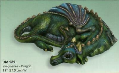 Imaginaries - Dragon Sleeping   *Ceramic Bisque Ready to Paint * Unpainted