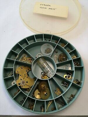 Job Lot Vintage Europa Clock Parts Useful Spares For Clock Makers (C28)