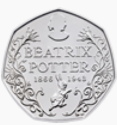 Uncirculated 2016 Beatrix Potter 150th Anniversary 50p Fifty Pence coin