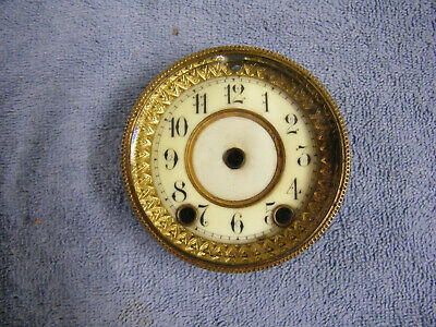 Small Porcelain Clock Dial And Bezel With Beveled Glass