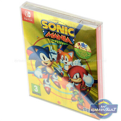 1 BOX PROTECTOR for Nintendo Switch Game Sonic Mania Plus 0.5mm PLASTIC CASE