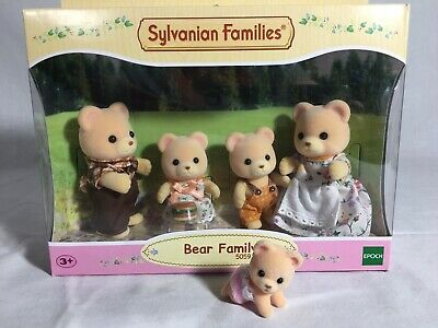 Calico Critters/sylvanian Families Cuddle Bear Family Of 5