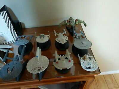 Eaglemoss and Hot Wheels Star trek starship lot
