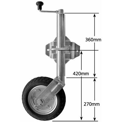 250mm Swivel Jockey Wheel