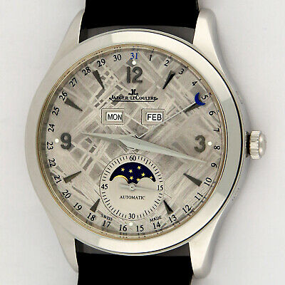 Jaeger LeCoultre Master Calendar Meterorite Dial Q1558421 39mm SS Watch Like New