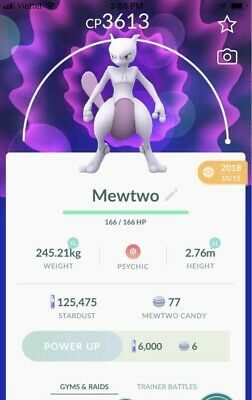 POKEMON GO - Mewtwo with Shadow Ball (Trade) - Legacy Moves