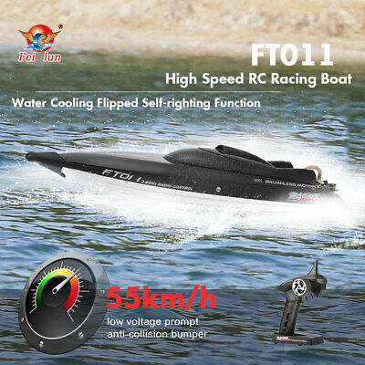 FeiLun FT011 2.4G RC Racing Boat Brushless Motor 55km/h WaterCooling System E9I3