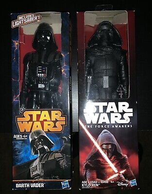Star Wars 12 inch action figures, Kylo Ren And Darth Vader (Brand New)