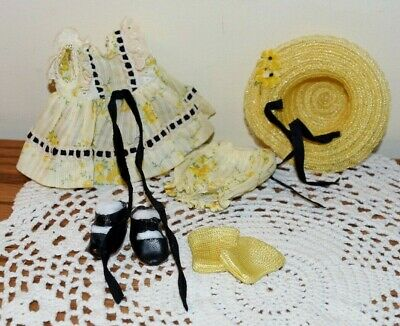 VOGUE STRUNG GINNY 1953 WANDA OUTFIT COMPLETE #40 TINY MISS SERIES w/CS SHOES