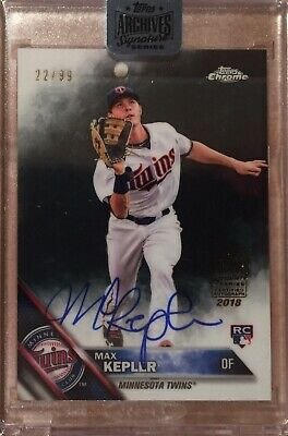 2018 Topps Archives Signature Max Kepler 22/99 Auto RC Rookie Autograph Twins