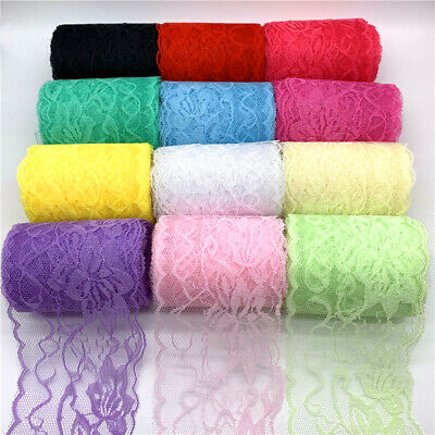 5yards 80mm Lace Ribbon Embroidered Lace Fabric Trim Decoration Handmade Sewing
