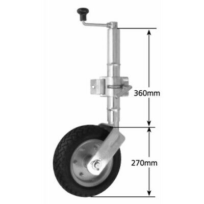 Couplemate 250mm Solid Jockey Wheel Bolt On