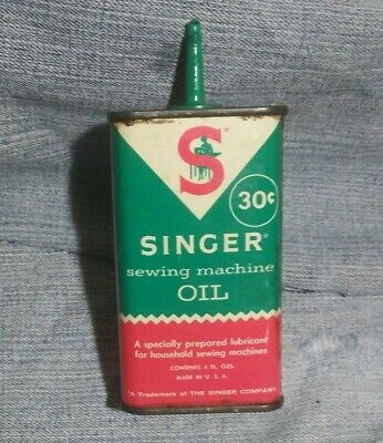 Vintage Singer Sewing Machine Handy Oiler Advertising Old Tin Oil Can Antique