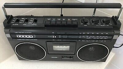 Retro Radio Cassette Player Boombox Philips made in Japan Model AR 789 Boombox
