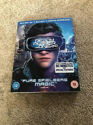 Ready Player One 2018 Blu Ray 3D & 2D Watched Once + Digital Download
